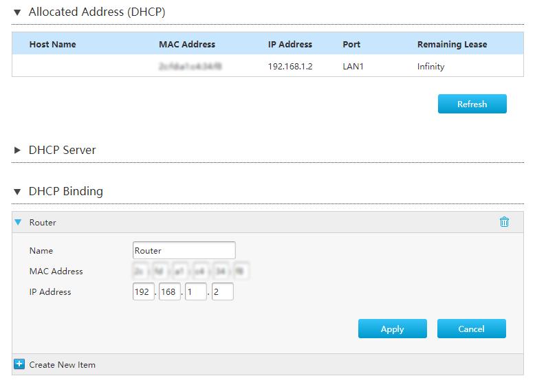 Router vast IP-adres