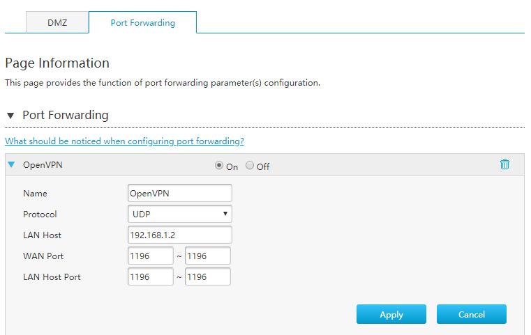 Port forwarding ZTE H369A Modem