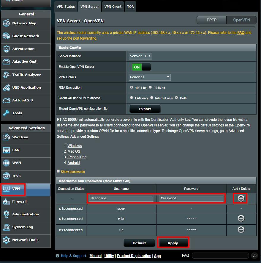 OpenVPN server instellen